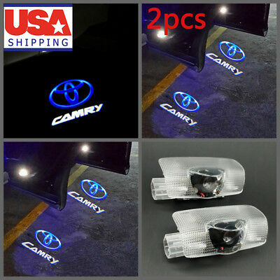 2x LED Door Ghost Shadow Light Step Welcome Courtesy Projector Laser for Camry