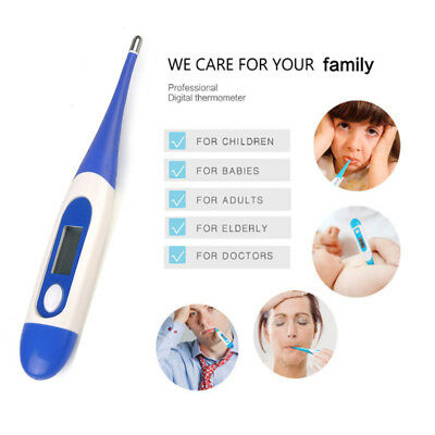 Digital Oral Thermometer LCD Baby Adult Kids Body Safe Ear Temperature Alarm