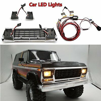 1:10 TRX4 Car LED Lights Front Lamps for Traxxas TRX-4 Ford Bronco XLT Body RC
