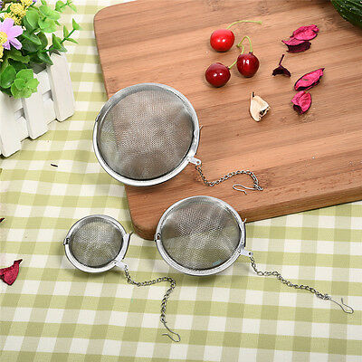 Stainless Steel Mesh Ball Tea Leaf Strainer Infuser Herbal Spice Filter Diffuser