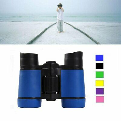 4x30 Children Blue Binoculars Pocket Rubber Telescope For Kids Outdoor Games
