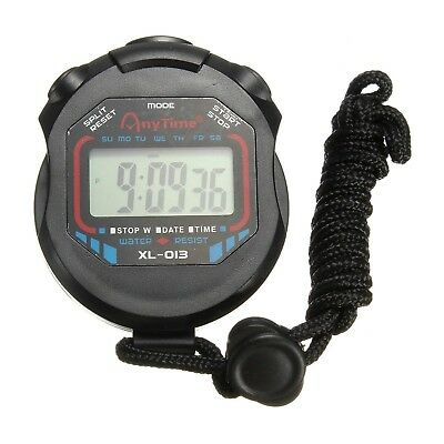 OUTERDO Digital Sports Stopwatch Handheld LCD Chronograph Timer Counter Stop ...