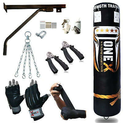 5 STAR 152 Cm Punching Bag Filled Heavy Glove Bracket Chains New MMA Punch Bags