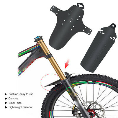 MTB Mountain Bike Bicycle Front  Rear Mud Guards Mudguard Fender Protector Black