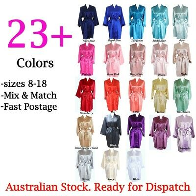 Bridesmaid Robes Bride Robe Bridal Party Robe Wedding Dressing Gowns PLAIN Satin