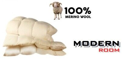 Merino Wool Pure Duvet Quilt 500 gsm 8 - 10,5 tog Single Double King Natural !