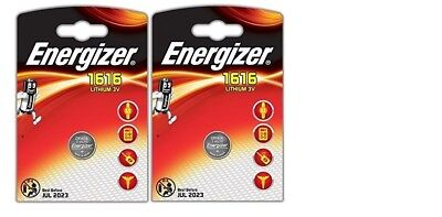 2 x Energizer 1616 Battery 3V Lithium Coin Cell CR1616 Battery DL1616 BR1616 New