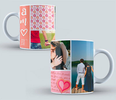Personalised Mug Collage Photo Image Picture Add Any Text Gift Tea Coffee Cup