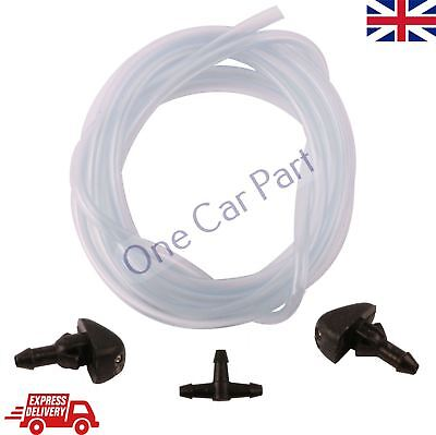 2x FRONT WINDSCREEN WASHER JET NOZZLE + HOSE FOR FORD TRANSIT TOURNEO