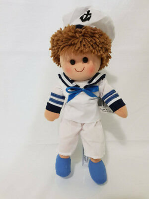 Tamarr Rag Doll – Sailor Tony [30cm] Soft Plush Toy Ragdoll NEW