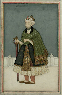 18th Century Indian / Persian Mughal Miniature Painting of Emperor Humayun