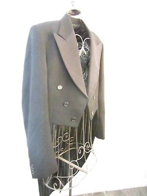 Rare Vintage/retro💙mens Tails💙keith Courtenay 1950 Wool Suit💙goth Freemasion