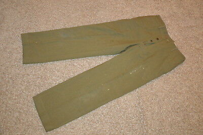 WWII WW2 US Army Wool Button Up Dress Pants Named