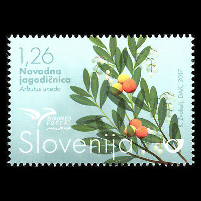 """Slovenia 2017 - EUROMED Issue """"Trees of the Mediterranean"""" - MNH"""