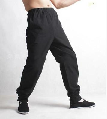 Mens Cross Pants Trousers Chinese Japanese Style Kung Fu Tai Casual Trousers X89