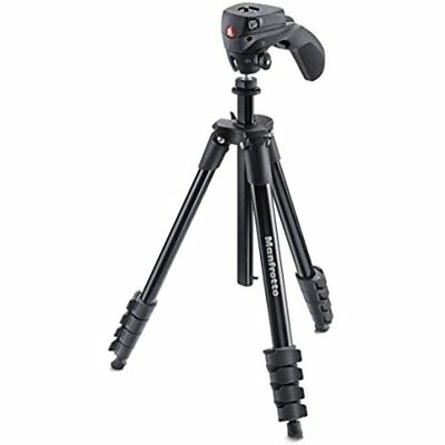Manfrotto MKCOMPACTACN-BK Compact Action Tripod (Black)