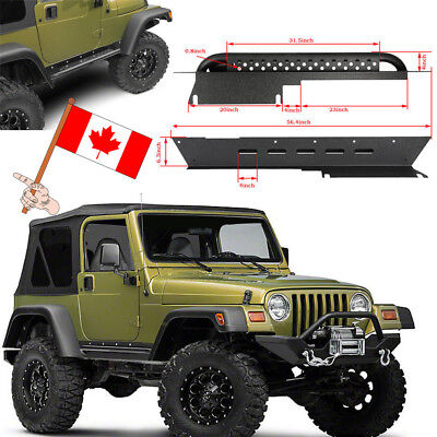 Texture Black Iron Side Step Nerf Bars Running Boards for Jeep Wrangler 97-06 TJ