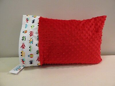 NWT Car Truck Minky Toddler Pillowcase 12x16 Nap mat Bed Plane Bus Train Helicop