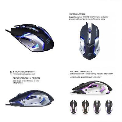 LINGYI Gaming Mouse, 6 Programmable Buttons, 4 Adjustable DPI Levels, Circular &