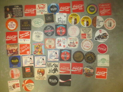 52 different COKE COLA  Soft Drinks Advertising  COASTERS