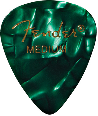 Fender Premium Celluloid Guitar Picks - 12-pack green moto medium