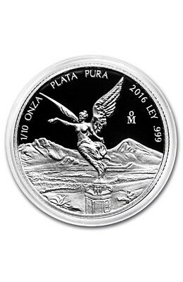 PROOF LIBERTAD - MEXICO - 2016 1/10 oz Proof Silver Coin.