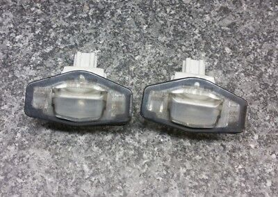Honda Accord  Mk7 2003-2008 Pair Of Boot Lid Trunk Number Plate Light 8098 #2E#7