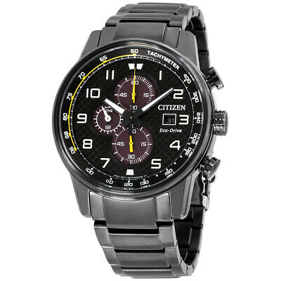 Citizen Primo Black Dial Stainless Steel Men's Watch CA0687-58E