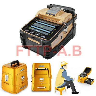 SM&MM Automatic FTTH Fiber Optic Welding Splicing Machine Fiber Fusion Splicer