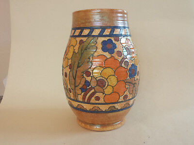 Large Art Deco Charlotte Rhead Crown Ducal 2681 'Byzantine' Tubelined Vase