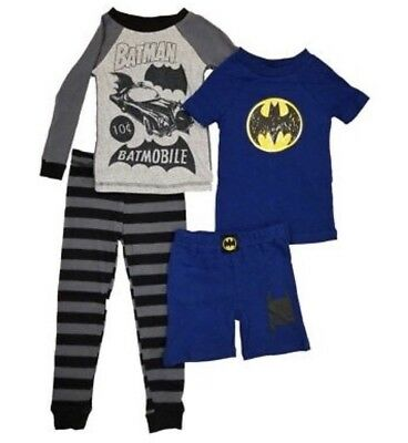 Komar Kids Boys 4 Piece Pajama Sleepwear Set with Shorts and Pants Batman Size 6