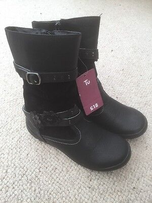 100% genuine clearance prices buy sale GIRLS BLACK BOOTS, Size 2, TU at Sainsburys, BNWT - £19.99 ...