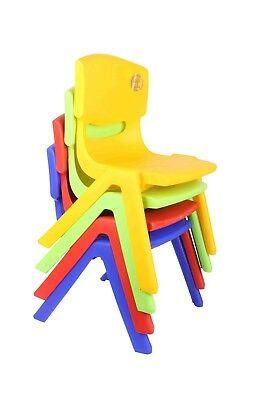 Children Kid Strong Plastic Chair Stackable Indoor Outdoor Nursery Garden Seat,