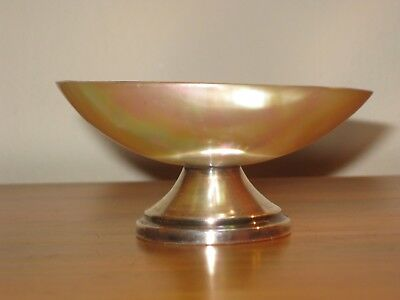 Really Pretty Solid Silver & Mother Of Pearl Shell Dish Birmingham