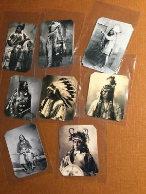 Lot of 8 Native American Indian Historical Museum Quality Reproduction