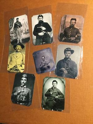 Lot of 8 Civil War Soldiers with Pistols Historical Museum Quality Reproductions