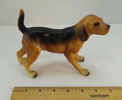 Vintage Collectible Dog Figurine Beagle Plastic #107 Hong Kong, Hound Dog K-9