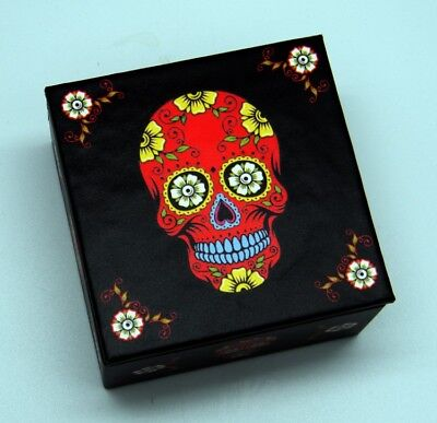 "Red ""Day of the Dead"" Mirror Box"