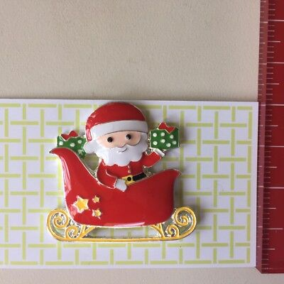 Santa & his sleigh Stitching Needle nannyminder rare earth magnet cross stitch