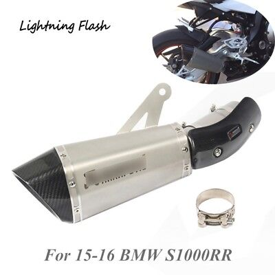 For 15-16 BMW S1000RR Exhaust Tail Pipe 60mm Motorcycle Escape with Link Elbow