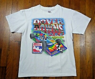 NASCAR Dover Downs Vintage 1999 (Large) T Shirt White Flawless Speedway 90s