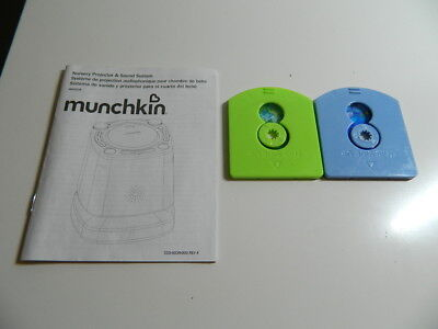 2 Image Cartridges & user guide for Munchkin Nursery Projector and Sound System