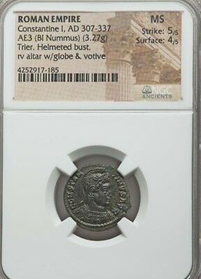 Roman Empire Constantine I AE3 Bl Nummus NGC MS 5/4 ancient coin