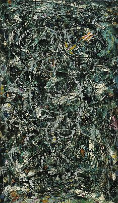 Jackson Pollock Full Fathom Five HD Print on Canvas Large Wall Picture Multisize