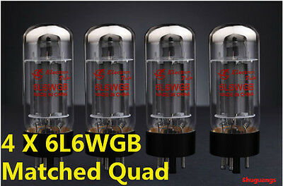 4PCS SHUGUANG 6L6WGB(5881A/6P3P/350C)MATCHED Quad Vacuum valve Tubes Tested  NEW