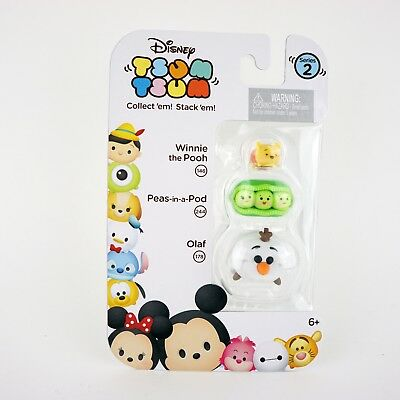 Tsum Tsum Series 2 Pooh Peas In A Pod Olaf Stack 3 Pack Small Medium Large S M L