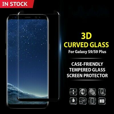 Galaxy S9 S8 Plus Case Friendly tempered Glass Screen Protector for Samsung