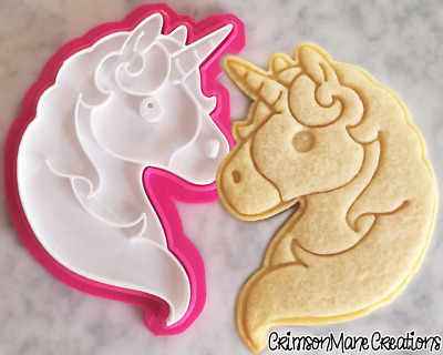 Unicorn Emoji Cookie Cutter Biscuit Stamp DIY Baking Ceramics and Pottery