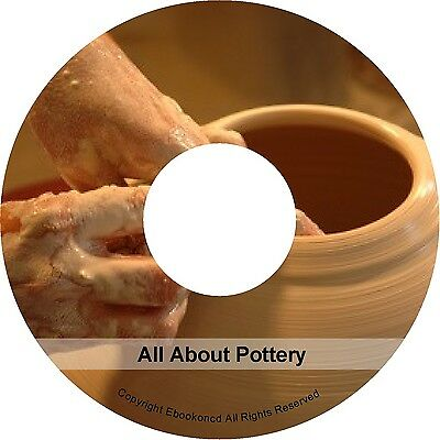 Pottery Techniques Enamels Glazes Kilns Clay Ceramics Painting Books on CD
