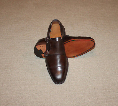 NEW Polo Ralph Lauren Brown Calf Leather Perdiswell Double Monk Strap Shoes